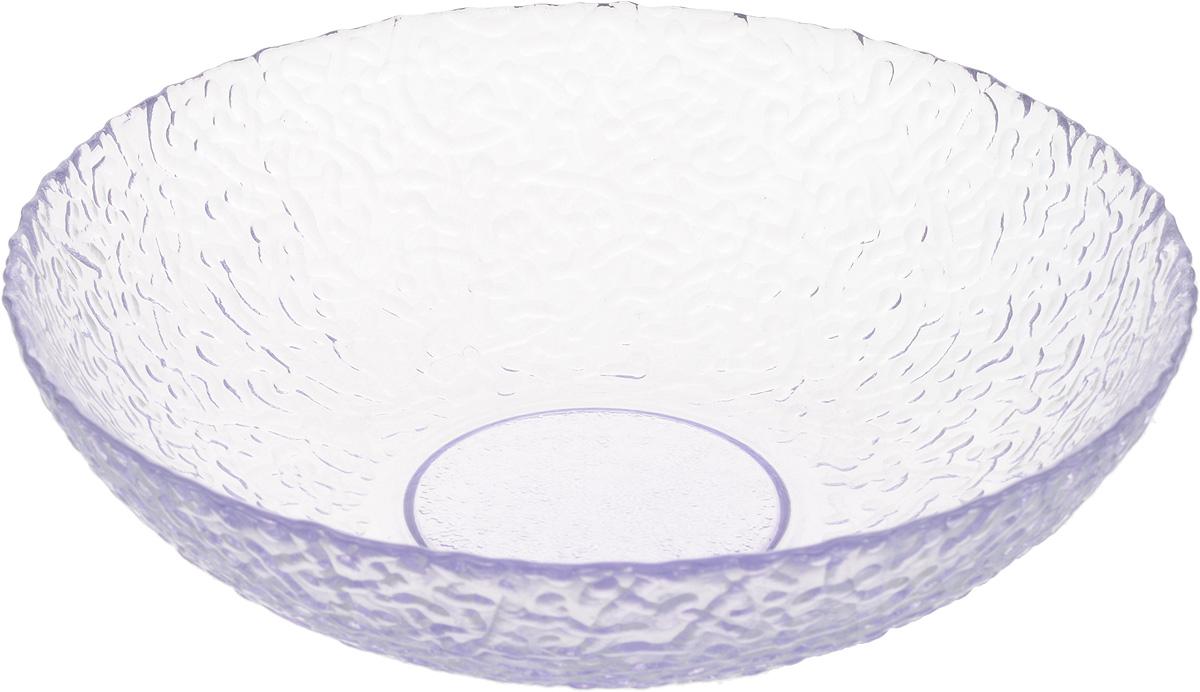 Тарелка NiNaGlass Ажур, цвет: лаванда, 20 х 20 х 5 см83-072-ф200/h50 ЛАВАНТарелка NiNaGlass Ажур выполнена из высококачественного стекла и имеет рельефную поверхность. Она прекрасно впишется в интерьер вашей кухни и станет достойным дополнением к кухонному инвентарю. Не рекомендуется использовать в микроволновой печи и мыть в посудомоечной машине.