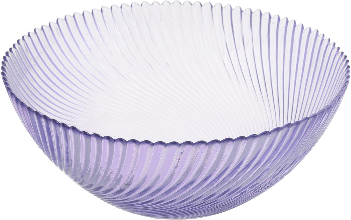 Салатник NiNaGlass Альтера, цвет: сиреневый, диаметр 25 см83-039-ф250 СИРСалатник NiNaGlass Альтера выполнен из высококачественного стекла и декорирован рельефным узором. Он подойдет для сервировки стола как для повседневных, так и для торжественных случаев. Такой салатник прекрасно впишется в интерьер вашей кухни и станет достойным дополнением к кухонному инвентарю. Подчеркнет прекрасный вкус хозяйки и станет отличным подарком. Не рекомендуется использовать в микроволновой печи и мыть в посудомоечной машине. Диаметр салатника (по верхнему краю): 25 см. Высота стенки: 10,5 см.