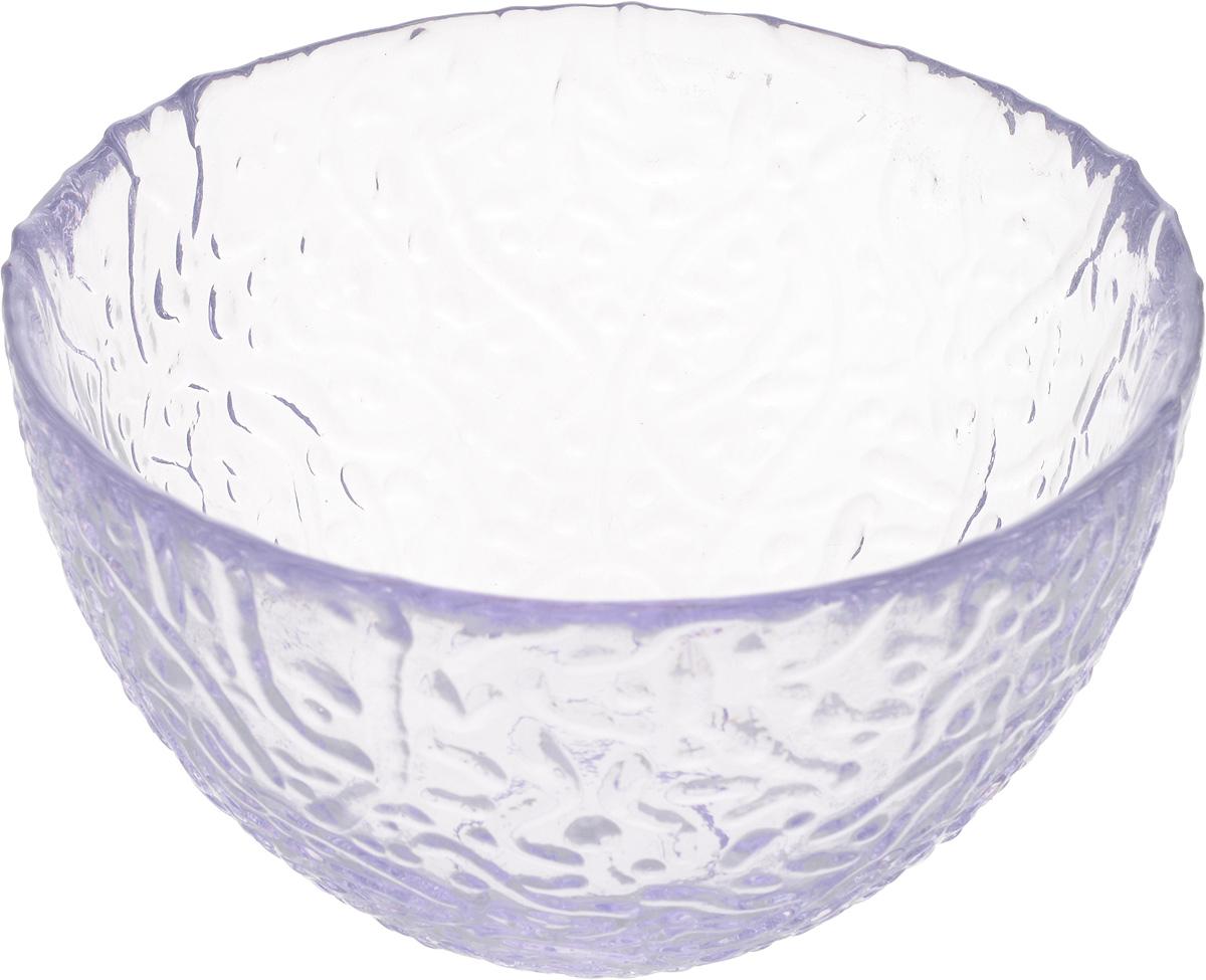 Салатник NiNaGlass Ажур, цвет: лаванда, диаметр 12 см83-040-ф120 ЛАВАНСалатник Ninaglass Ажур выполнен из высококачественного стекла и имеет рельефную поверхность. Он прекрасно впишется в интерьер вашей кухни и станет достойным дополнением к кухонному инвентарю. Не рекомендуется использовать в микроволновой печи и мыть в посудомоечной машине.