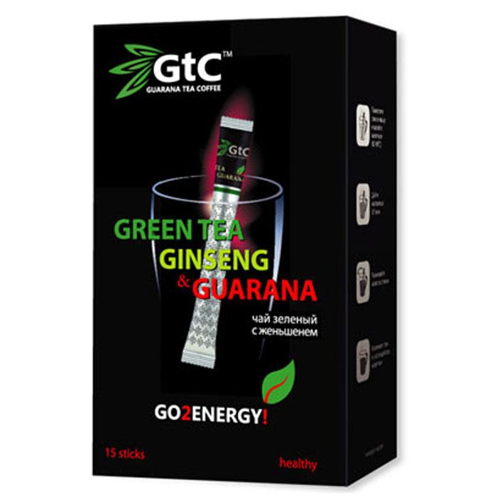 GTC чай зеленый китайский с женьшенем в пакетиках, 15 шт 00-00000406