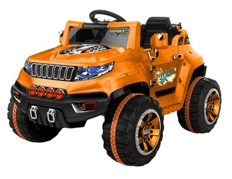 1TOY Электромобиль Джип цвет оранжевый черный Т58707