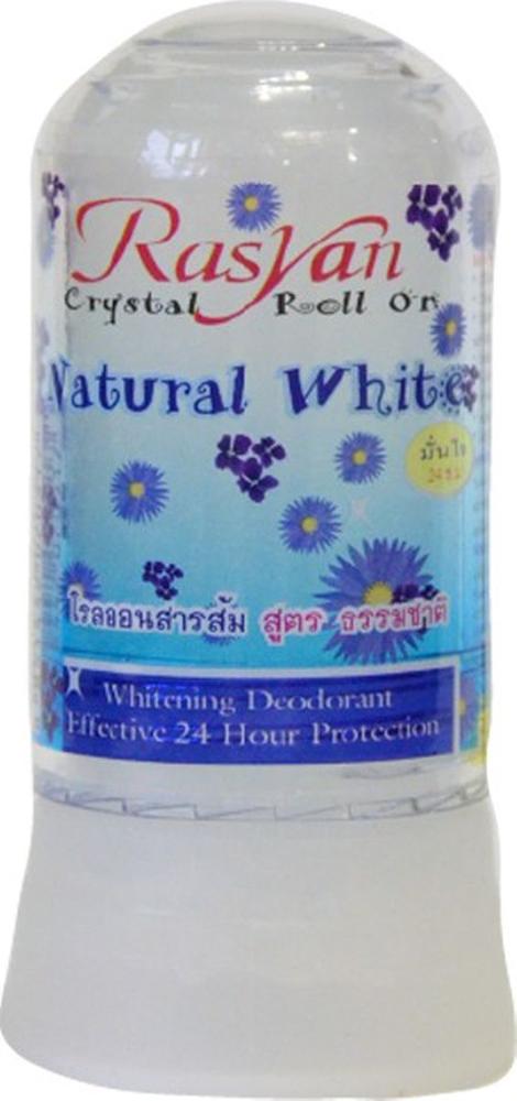 RasYan Дезодорант-кристалл натуральный белый, 80 гр. 517