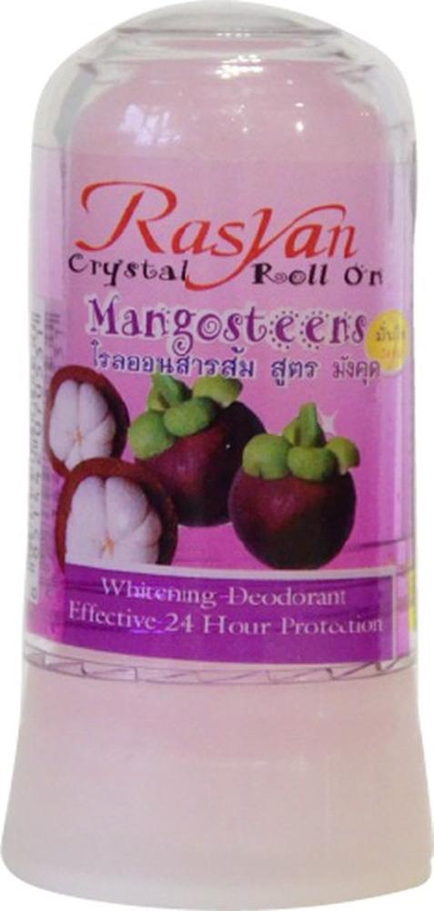 RasYan Дезодорант-кристалл с мангостином, 80 гр.531Состоит из твердых солей квасцов вулканического происхождения, защищает от пота и неприятного запаха без закупорки потовых протоков, обладает антибактериальным и увлажняющим эффектами, поскольку борется с бактериями, являющимися причинами появления запаха, экономичен, обладает длительным периодом действия, не оставляет следов на одежде, не раздражает кожу. Подходит для чувствительной кожи.