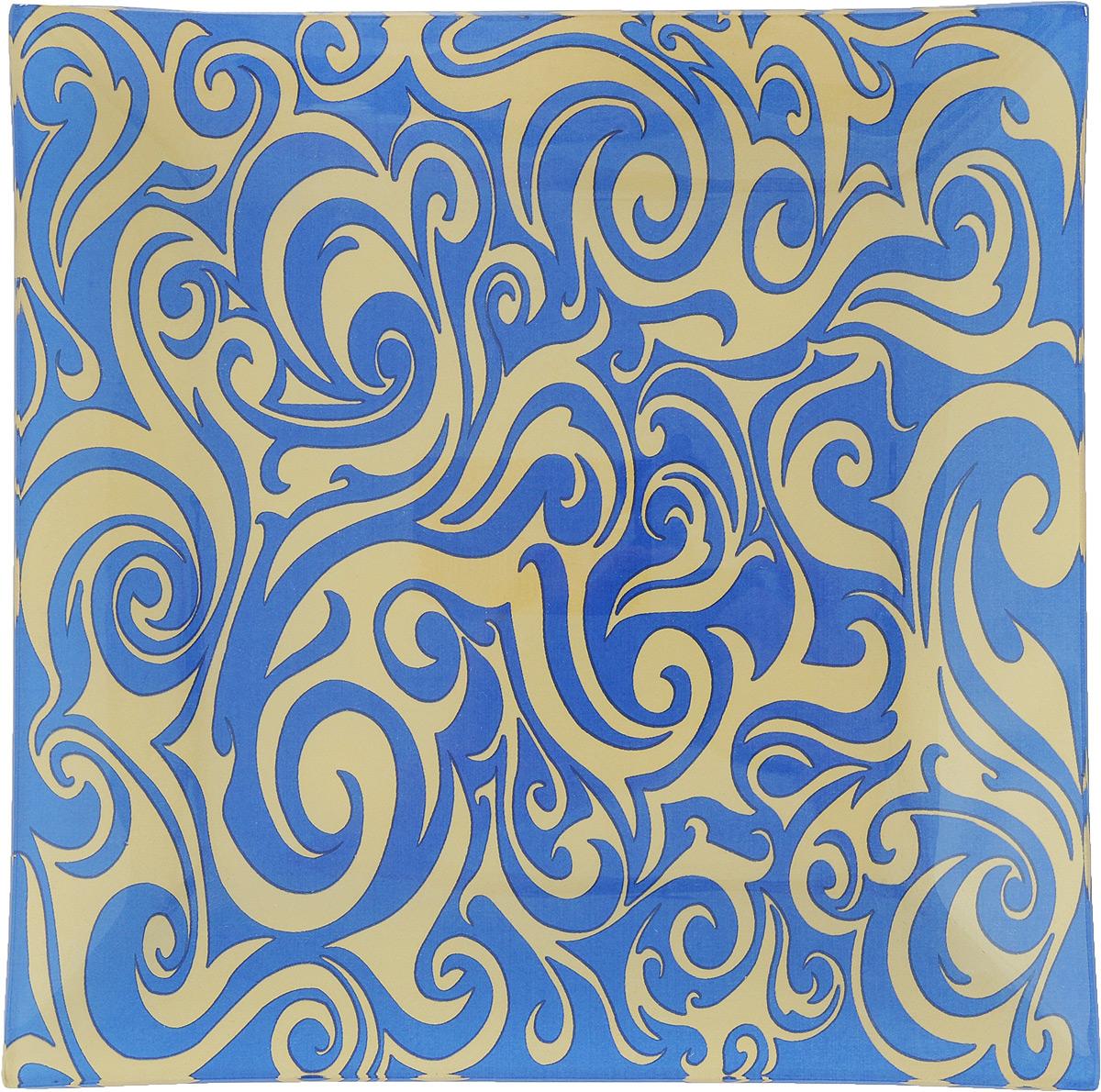 Тарелка Zibo Shelley Золотой орнамент, цвет: синий, диаметр 20 смZSS3108-2Квадратная тарелка Zibo Shelley Золотой орнамент, изготовленная из высококачественного стекла, декорирована ярким узором. Она не только украсит сервировку вашего стола и подчеркнет прекрасный вкус хозяйки, но и станет отличным подарком. Можно использовать в посудомоечной машине. Размер тарелки (по верхнему краю): 20 х 20 см. Высота: 2 см.