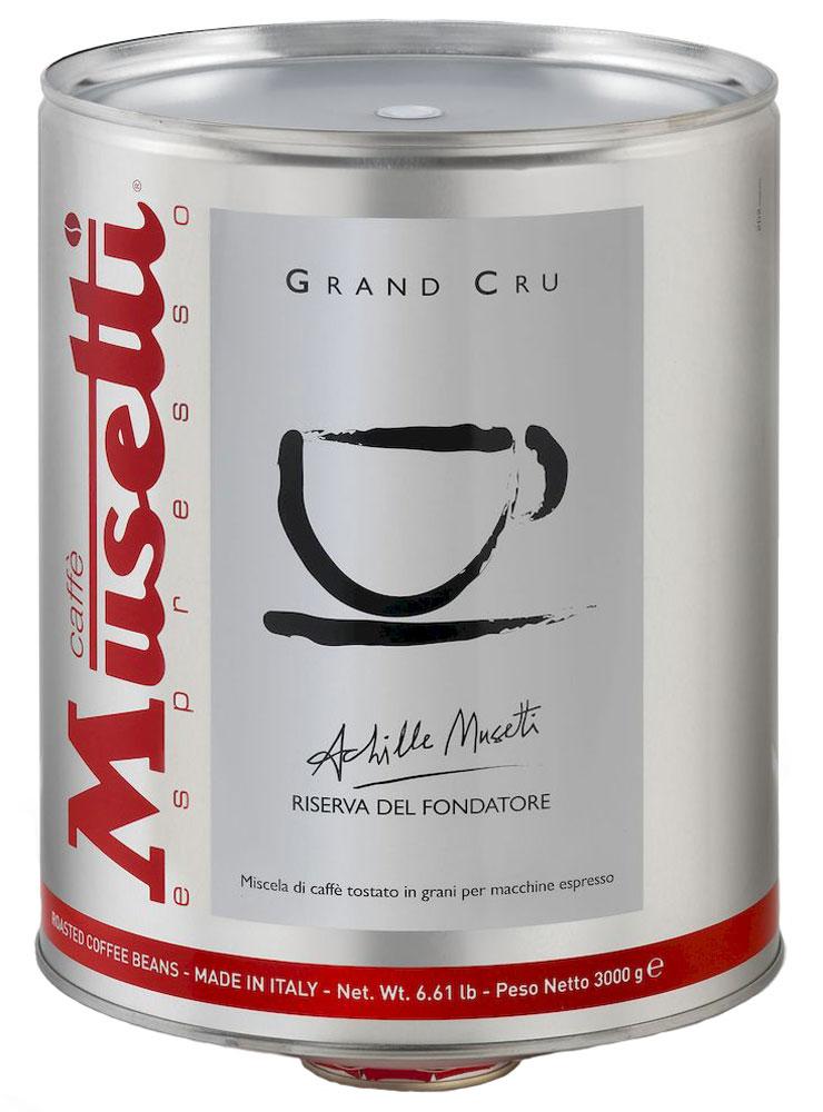 Musetti Grand Cru кофе в зернах, 3 кг8004769208518Кофе Musetti Grand Cru - купаж элитных зерен Арабики с лучших кофейных плантаций Бразилии, Индии, и Африки высокого качества позволит вам насладится необыкновенным ярко выраженным ароматом, ощутить шоколадное послевкусие, с цветочными нотками ванили и цитруса. Изысканный и совершенный по вкусовым качествам. 100% Арабика. Упаковано под сжатым газом.