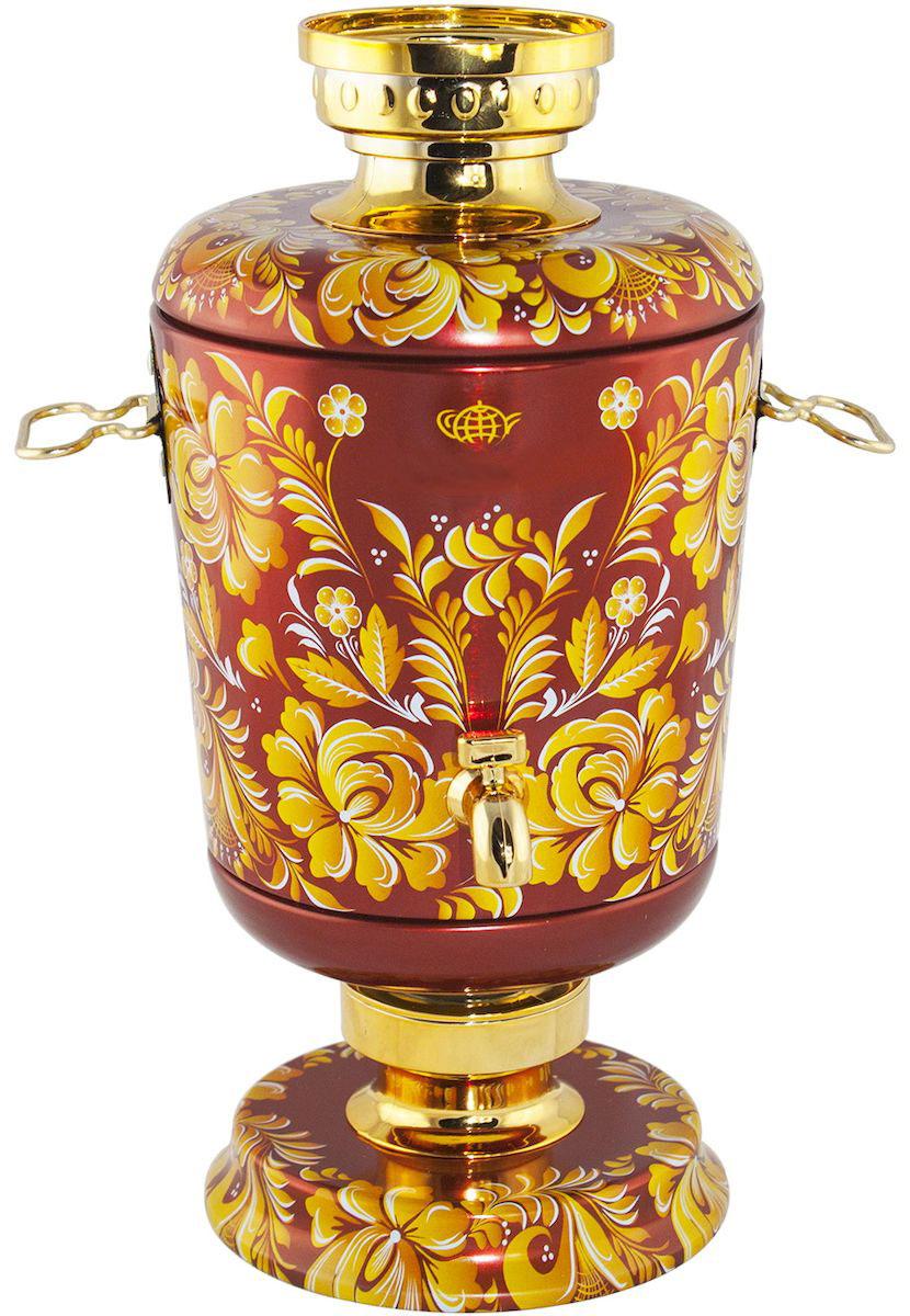 Самовар Красный чай листовой, 75 г4603224147139Купаж индийского и цейлонского черного крупнолистового чая и китайского зеленого чая сенча с добавлением цветков розы, жасмина, подсолнечника и сафлора, ароматизированный натуральными маслами клубники, ананаса и винограда. Поставляется в подарочной банке в виде жестяного самовара, упакованного в коробку.