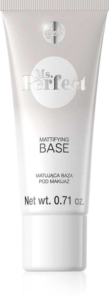 Bell База Матирующая Под Макияж Ms.perfect Mattifying Base Тон 01, 20 млBiLbmP001База выравнивающая поверхность кожи и продлевающая стоякость макияжа. Впитывает излишки кожного жира, тем самым устраняет жирный блеск кожи. Идеално и гладко наносится и не оставляет разводов. База слегка подтягивает кожу.