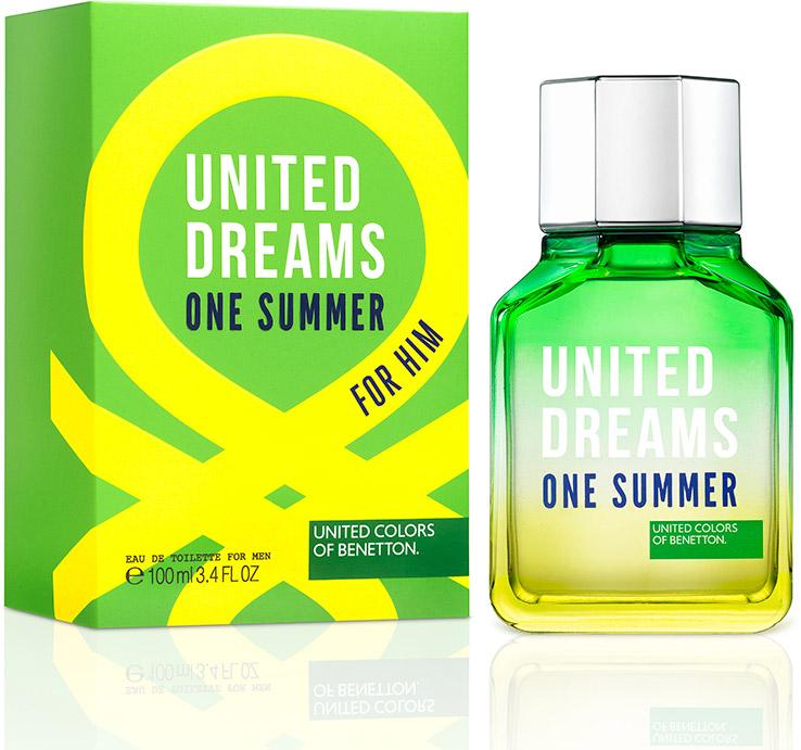 Benetton Ud One Summer Мужская Туалетная вода 100мл65114171Ароматы One Summer, One Love - призыв присоедениться к революции United Dream. Парные ароматы, которые напоминают нам о том, что происхождение не имеет значение - мы разделяем общие мечты.