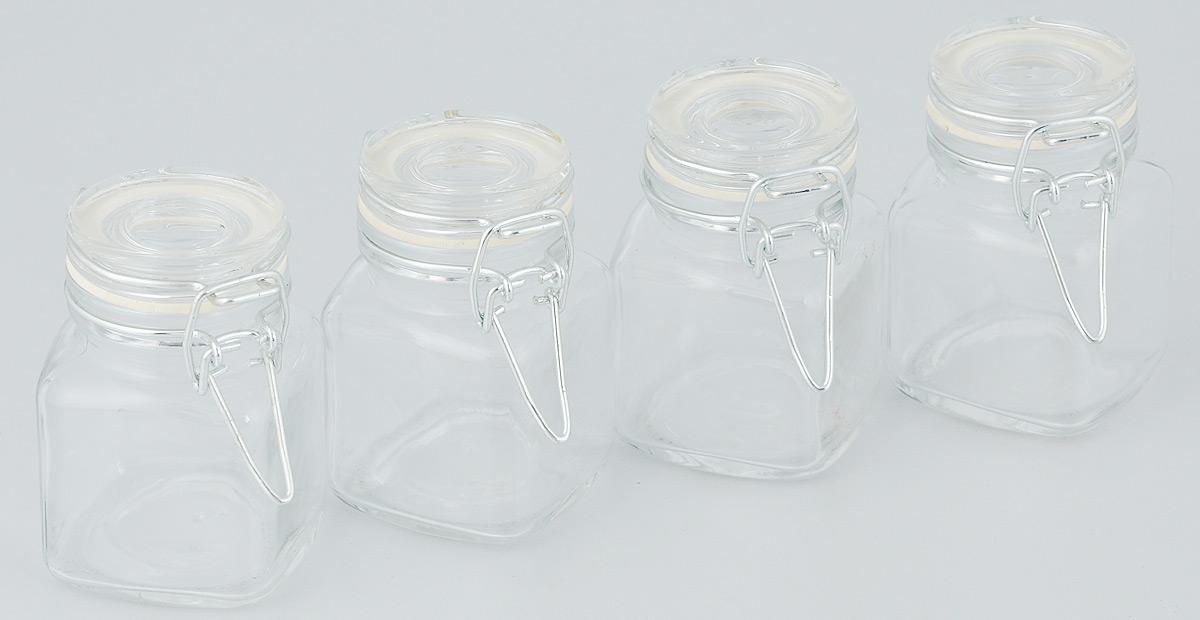 """Набор банок для сыпучих продуктов """"Zibo Shelley"""", 100 мл, 4 шт"""