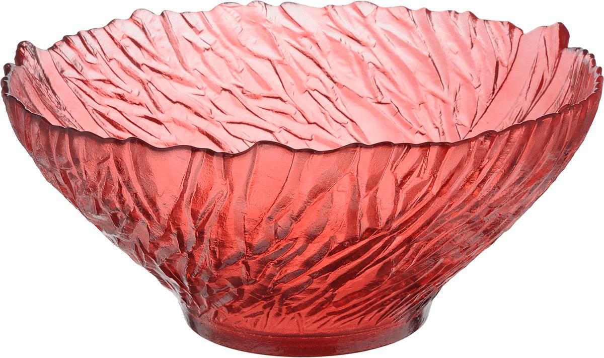 Салатник NiNaGlass Раздолье, цвет: рубиновый, диаметр 25 см83-313 РУБСалатник NiNaGlass Раздолье выполнен из высококачественного стекла и декорирован рельефным узором. Он подойдет для сервировки стола как для повседневных, так и для торжественных случаев. Такой салатник прекрасно впишется в интерьер вашей кухни и станет достойным дополнением к кухонному инвентарю. Подчеркнет прекрасный вкус хозяйки и станет отличным подарком.