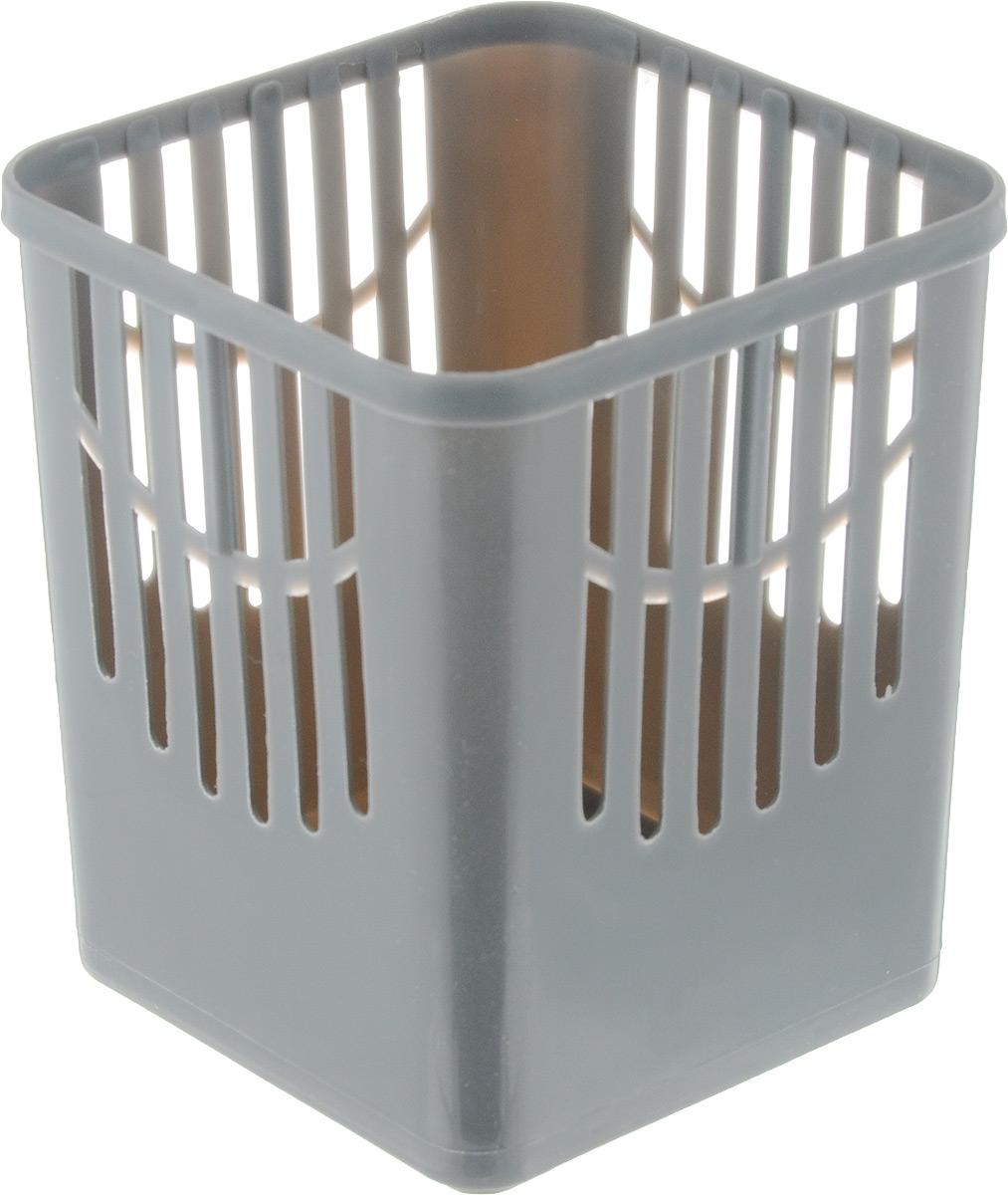 Подставка для столовых приборов Axentia, цвет: серый, 10,5 х 10,5 х 12,5 см232039_серыйПодставка для столовых приборов Axentia, выполненная из высококачественного пластика, станет полезным приобретением для вашей кухни. Она хорошо впишется в интерьер, не займет много места, а столовые приборы будут всегда под рукой. Размер подставки: 10,5 х 10,5 х 12,5 см.