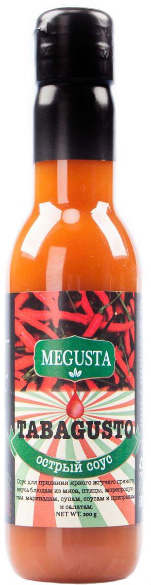 Megusta Tabagusto cоус острый перцовый, 200 г4680008982377Соус Megusta Tabagusto предназначен для придания яркого жгучего приятного вкуса блюдам из мяса, птицы, морепродуктам, маринадам, супам, соусам и приправам к салатам. В основе соуса - изысканные и необыкновенные пряности, которые выращены в Латинской Америке. Употреблять в чистом виде с осторожностью. Возможна индивидуальная непереносимость компонентов.