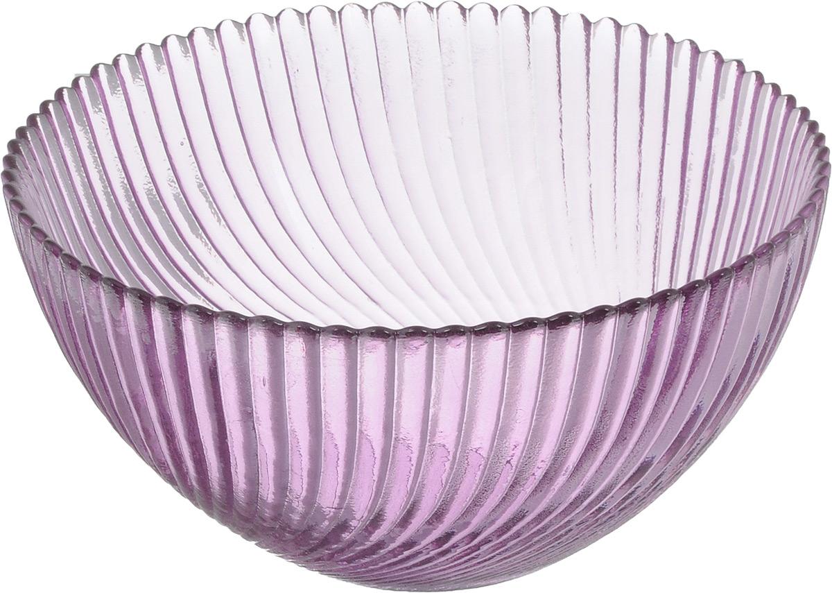 Салатник NiNaGlass Альтера, цвет: сиреневый, диаметр 16 см83-037-ф160 СИРСалатник Ninaglass Альтера выполнен из высококачественного стекла и декорирован рельефным узором. Он подойдет для сервировки стола как для повседневных, так и для торжественных случаев. Такой салатник прекрасно впишется в интерьер вашей кухни и станет достойным дополнением к кухонному инвентарю. Подчеркнет прекрасный вкус хозяйки и станет отличным подарком. Не рекомендуется использовать в микроволновой печи и мыть в посудомоечной машине. Диаметр салатника (по верхнему краю): 16 см. Высота стенки: 8 см.