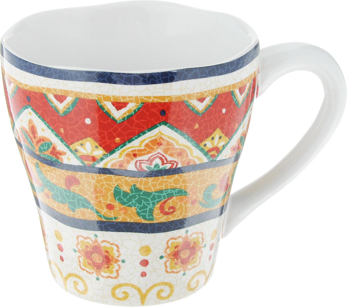 Кружка Sango Ceramics Мессина, 430 млUTMS41601Кружка Sango Ceramics Мессина выполнена из высококачественной керамики с глазурованным покрытием и оформлена оригинальным орнаментом. Такая кружка станет отличным дополнением к сервировке семейного стола и замечательным подарком для ваших родных и друзей. Можно использовать в микроволновой печи и мыть с посудомоечной машине.