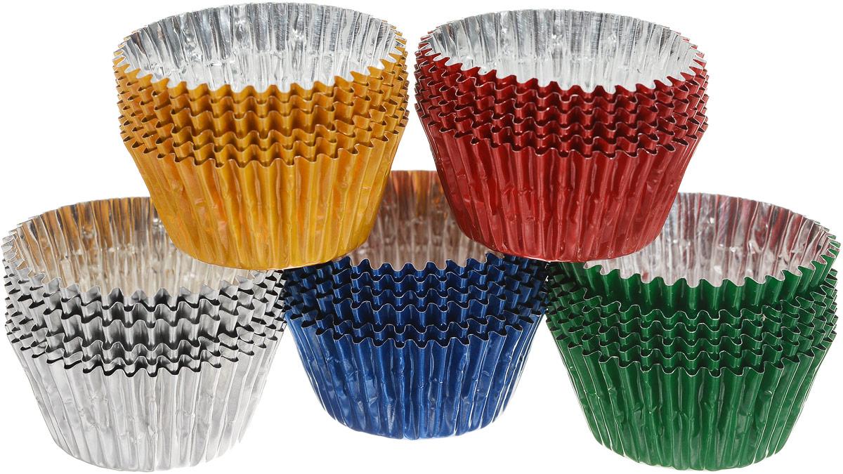 Набор форм для приготовления конфет Home Queen, 30 шт69094Набор Home Queen состоит из 30 форм для приготовления конфет, карамели, леденцов и мармелада. Формы изготовлены из особо прочной алюминиевой фольги и имеют дополнительные ребра жесткости. В формах из фольги можно запекать либо замораживать домашние сладости. Размер формы: 3 х 3 см. Высота формы: 1,5 см.