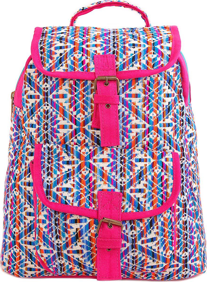 Рюкзак женский ГАНГ, цвет: розовый. 440/7440/7Состав: Хлопок; Размер: 30х13х36 см; Цвет: Мультиколор; Вес: 0.44кг; на подкладе, с внутренним карманом, застежка молния;