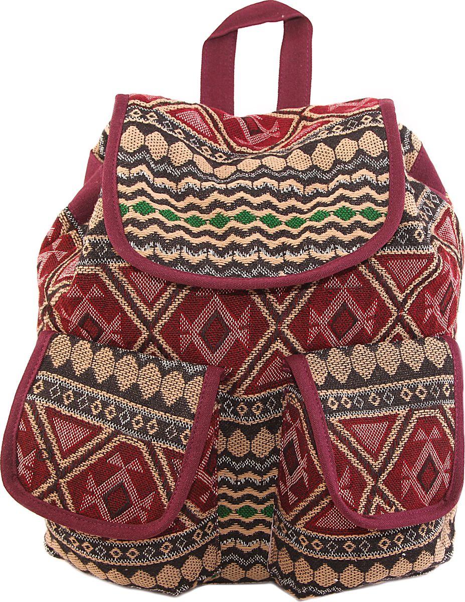 Рюкзак женский ГАНГ, цвет: коричневый. АА6366/11АА6366/11Состав: Хлопок; Размер: 41*36*17 см; Цвет: Мультиколор; Вес: 0.64кг; на подкладе, с внутренним карманом на молнии, ;