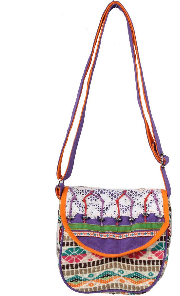 Пляжная сумка женская ГАНГ, цвет: фиолетовый. АА8153АА8153декоративная отделка ручной работы, одно отделение на молнии, 25*20*8 см, длина ручки регулируется;