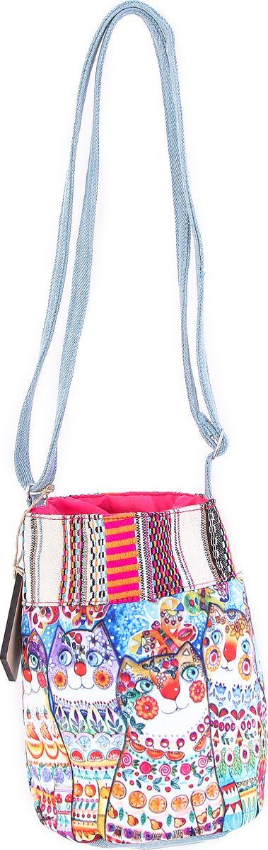 Пляжная сумка женская ГАНГ, цвет: красный. АВ2466АВ2466Состав: Хлопок; Размер: 16х16х22 см, длина ручки регулируется; Цвет: Мультиколор; Вес: 0.15кг; декоративная отделка, цифровая печать, одно отделение на шнурке, подклад хлопок;