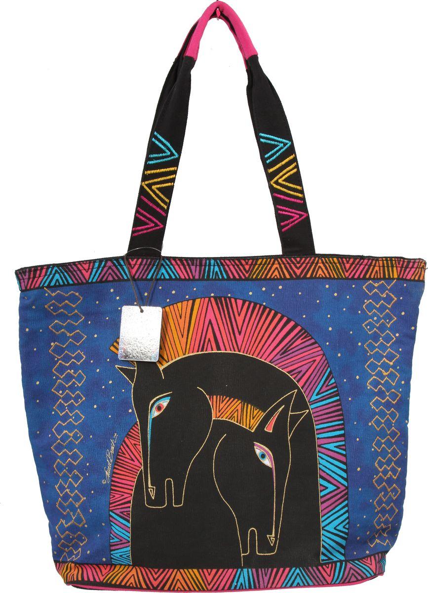 Пляжная сумка женская ГАНГ, цвет: синий. ЛБ4820ЛБ4820Высота 39 см, ширина 50 см, ширина дна 10 см, высота ручек 30 см, тип застежки молния, имеется внутренний карман на молнии и карман для мобильного;