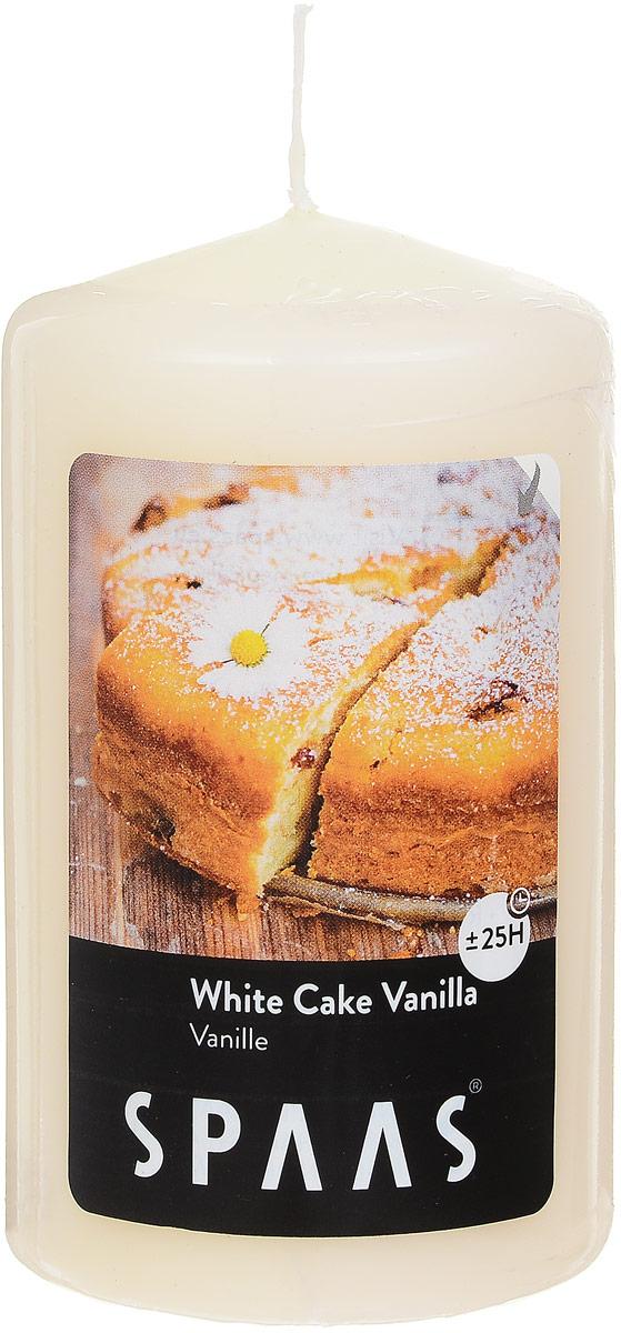 Свеча ароматизированная Spaas Ванильный пирог, высота 10 см004500037Ароматизированная свеча Spaas Ванильный пирог изготовлена из парафина с добавлением натуральных красок и ароматизаторов, не выделяющих вредные вещества при горении. Фитиль выполнен из натурального хлопка. Оригинальная свеча с тонким, нежным ароматом добавит романтики в ваш дом и создаст неповторимую атмосферу уюта, тепла и нежности. Такая свеча не только поможет дополнить интерьер вашей комнаты, но и станет отличным подарком. Время горения: 25 ч.