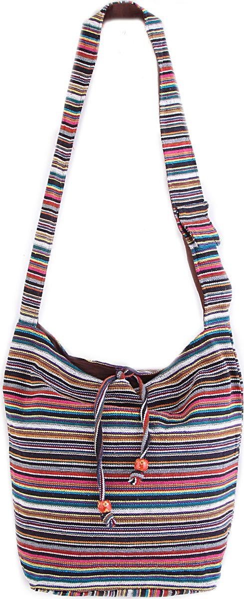 Пляжная сумка женская ГАНГ, цвет: синий. С3/3С3/3Состав: хлопоук; Размер: 33*37*12 см; Цвет: мультиколор; Вес: 0.244кг; длинна лямки 50 см, подклад хлопок, внутри карман, карман на молнии снаружи, застежка молния.;