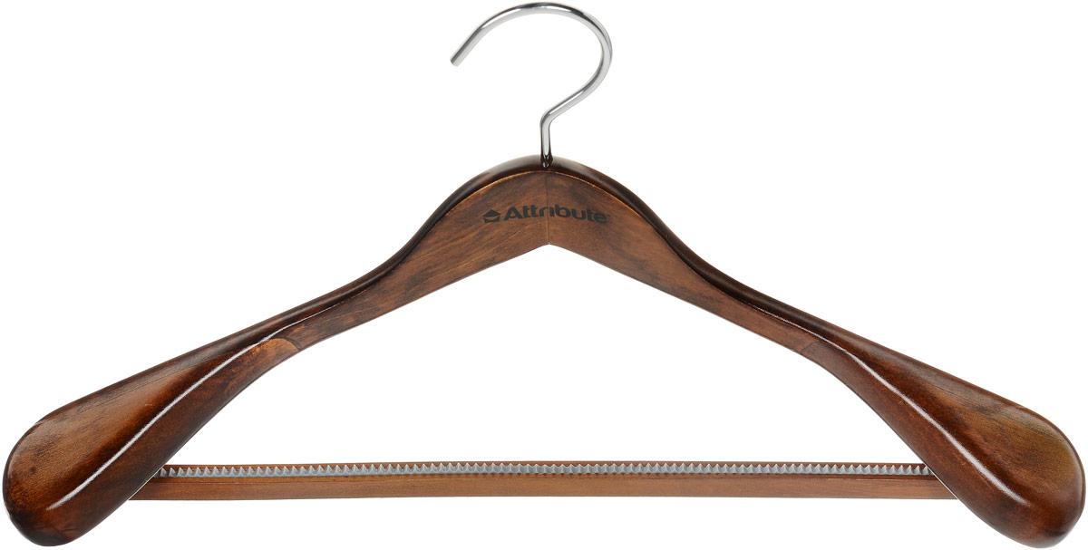 Вешалка для верхней одежды Attribute Hanger Status, цвет: дерево, длина 44 смAHO211Вешалка для верхней одежды Attribute Hanger Status выполнена из дерева и оснащена перекладиной с рифленым покрытием. Вешалка - это незаменимая вещь для того, чтобы ваша одежда всегда оставалась в хорошем состоянии. Длина вешалки: 44 см.
