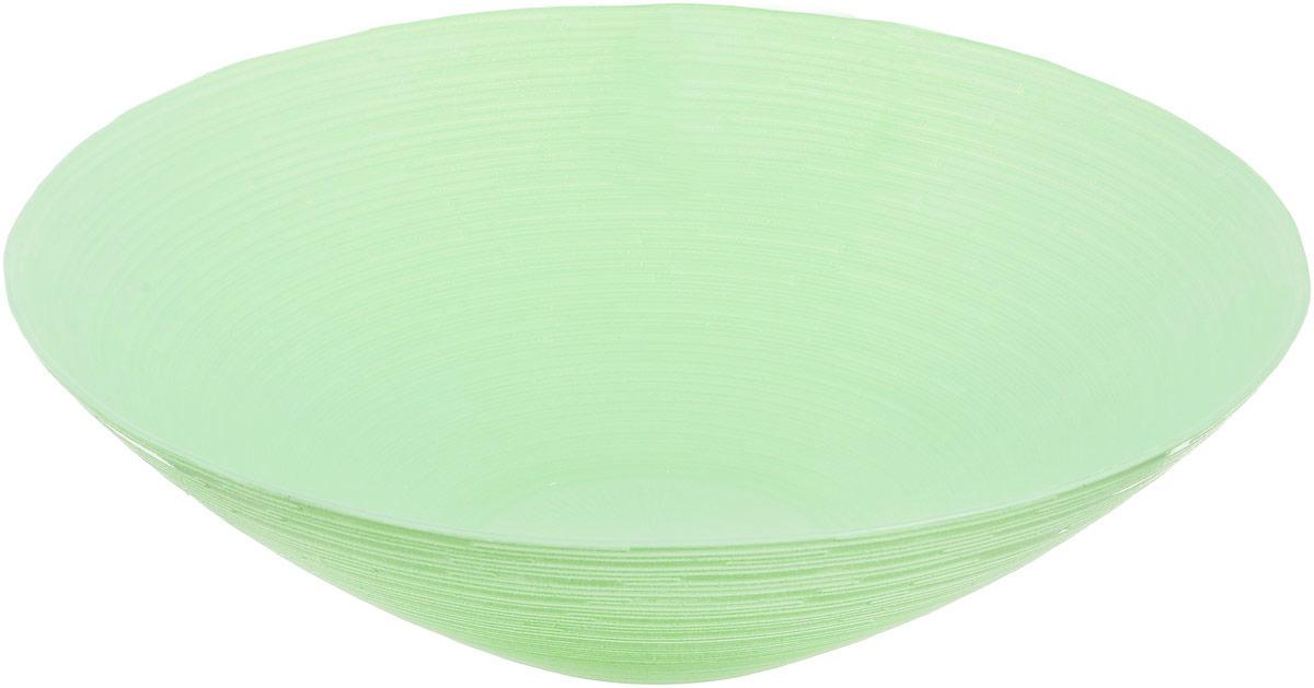 Миска NiNaGlass Риски, цвет: зеленый, диаметр 25,5 см83-012-Ф25 Р-ЗЕЛМиска NiNaGlass Риски выполнена из высококачественного стекла и имеет рельефную поверхность. Она прекрасно впишется в интерьер вашей кухни и станет достойным дополнением к кухонному инвентарю. Не рекомендуется использовать в микроволновой печи и мыть в посудомоечной машине. Диаметр миски: 25,5 см. Высота стенки: 7,5 см.