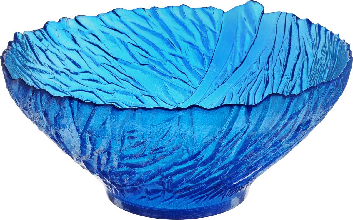 Салатник NiNaGlass Раздолье, цвет: синий, диаметр 25 см83-313_синийСалатник NiNaGlass Раздолье выполнен из высококачественного стекла и декорирован рельефным узором. Идеален для сервировки салатов, овощей и фруктов, ягод, вторых блюд, гарниров и многого другого. Он отлично подойдет как для повседневных, так и для торжественных случаев. Такой салатник прекрасно впишется в интерьер вашей кухни и станет достойным дополнением к кухонному инвентарю. Диаметр салатника (по верхнему краю): 25 см. Высота стенки: 10,5 см.