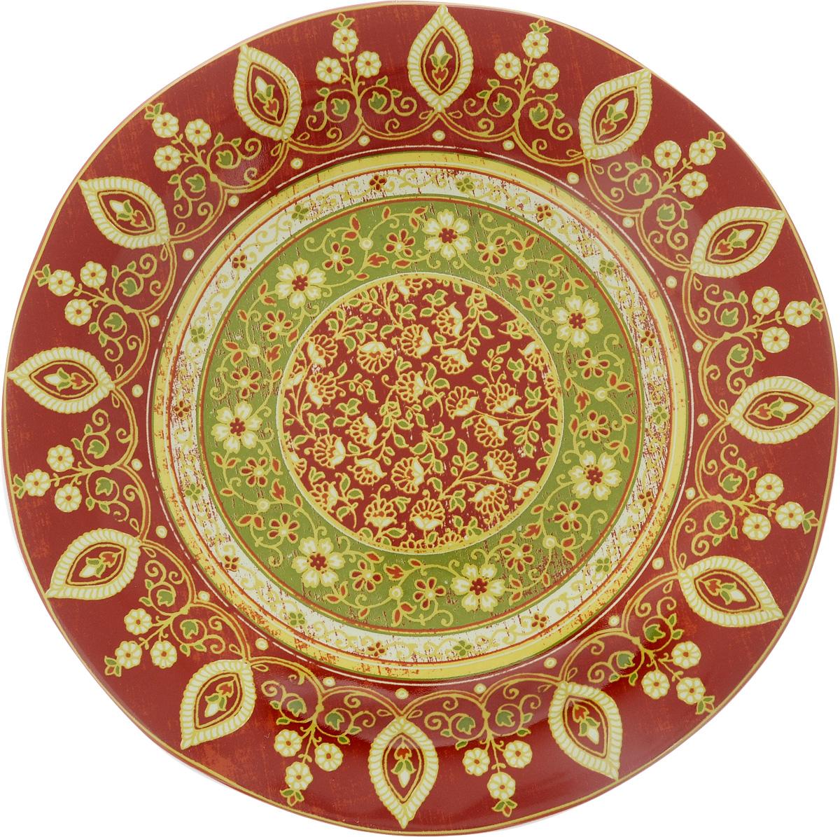 Тарелка обеденная Sango Ceramics Кашмир, диаметр 27 смUTT41110Обеденная тарелка Sango Ceramics Кашмир, изготовленная из высококачественной керамики, имеет изысканный внешний вид. Она идеально подходит для красивой сервировки стола. Изделие прекрасно впишется в интерьер вашей кухни и станет достойным дополнением к кухонному инвентарю. Тарелка Sango Ceramics Кашмир подчеркнет прекрасный вкус хозяйки и станет отличным подарком. Можно мыть в посудомоечной машине и использовать в микроволновой печи. Диаметр тарелки (по верхнему краю): 27 см. Высота тарелки: 3 см.