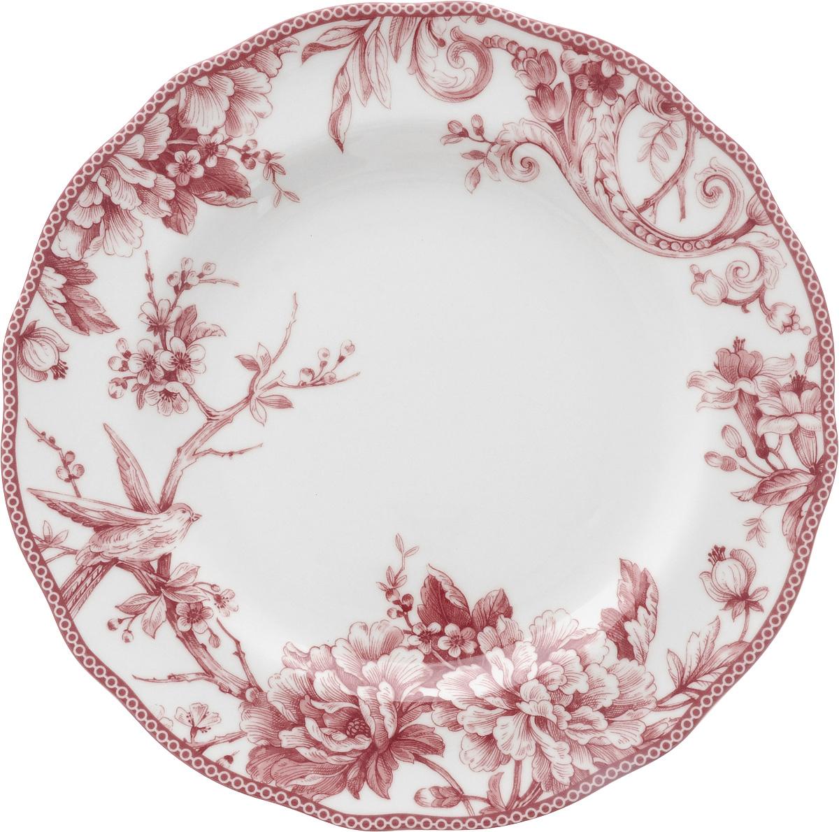 Тарелка обеденная Sango Ceramics Аделаида Бордо, диаметр 27,5 смUTAB97110Обеденная тарелка Sango Ceramics Аделаида Бордо, изготовленная из высококачественной керамики, имеет изысканный внешний вид. Она идеально подходит для красивой сервировки стола. Изделие прекрасно впишется в интерьер вашей кухни и станет достойным дополнением к кухонному инвентарю. Тарелка Sango Ceramics Аделаида Бордо подчеркнет прекрасный вкус хозяйки и станет отличным подарком. Можно мыть в посудомоечной машине и использовать в микроволновой печи. Диаметр тарелки (по верхнему краю): 27,5 см. Высота тарелки: 3 см.