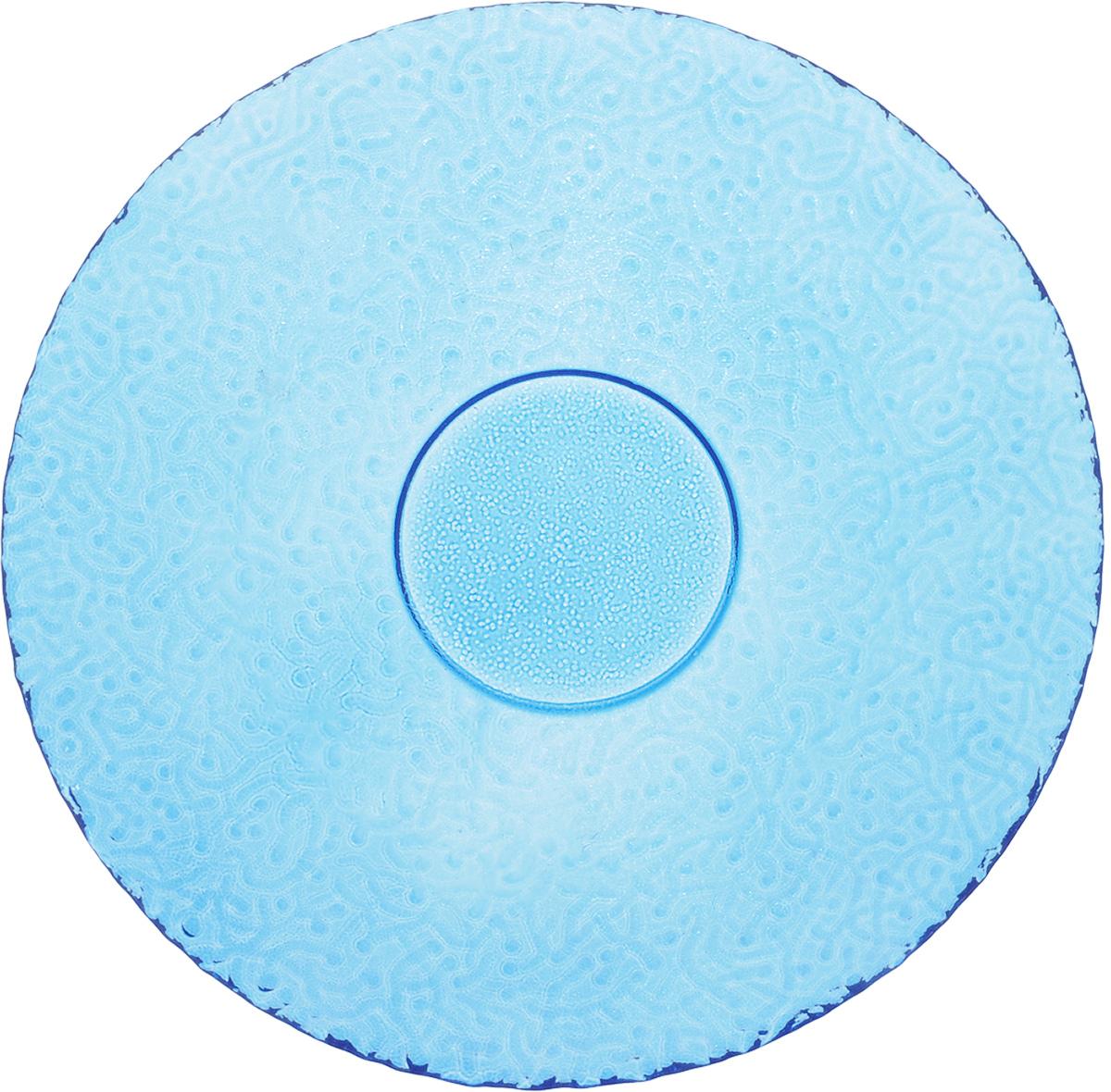 Тарелка NiNaGlass Ажур, цвет: голубой, диаметр 21 см83-070-Ф210_голубойТарелка NiNaGlass Ажур выполнена из высококачественного стекла и имеет рельефную поверхность. Она прекрасно впишется в интерьер вашей кухни и станет достойным дополнением к кухонному инвентарю. Тарелка NiNaGlass Ажур подчеркнет прекрасный вкус хозяйки и станет отличным подарком. Диаметр тарелки: 21 см. Высота: 2,5 см.