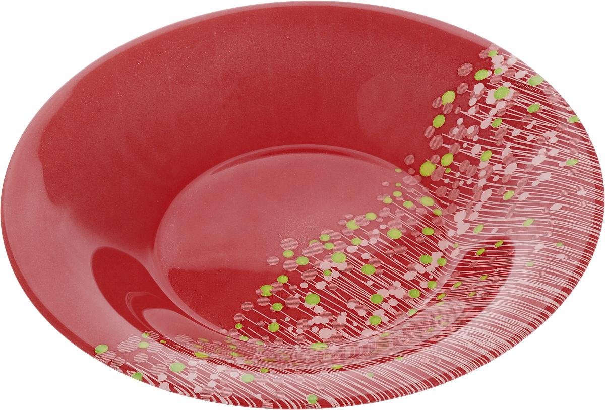 Тарелка суповая Luminarc FlowerFields Anis, цвет: красный, зеленый, диаметр 21 смH2484_красный, зеленыйСуповая тарелка Luminarc FlowerFields Anis выполнена из ударопрочного стекла и имеет изысканный внешний вид. Изделие сочетает в себе оригинальный дизайн с максимальной функциональностью. Она прекрасно впишется в интерьер вашей кухни и станет достойным дополнением к кухонному инвентарю. Суповая тарелка Luminarc FlowerFields Anis создаст весеннее настроение на вашей кухне. Можно мыть в посудомоечной машине и использовать в СВЧ. Диаметр тарелки (по верхнему краю): 21 см. Высота тарелки: 3,5 см.