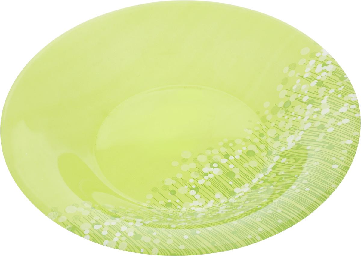 Тарелка суповая Luminarc FlowerFields Anis, цвет: салатовый, зеленый, диаметр 21 смH2493_салатовый, зеленыйСуповая тарелка Luminarc FlowerFields Anis выполнена из ударопрочного стекла и имеет изысканный внешний вид. Изделие сочетает в себе оригинальный дизайн с максимальной функциональностью. Она прекрасно впишется в интерьер вашей кухни и станет достойным дополнением к кухонному инвентарю. Суповая тарелка Luminarc FlowerFields Anis создаст весеннее настроение на вашей кухне. Можно мыть в посудомоечной машине и использовать в СВЧ. Диаметр тарелки (по верхнему краю): 21 см. Высота тарелки: 3,5 см.