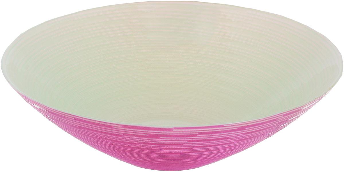 Миска NiNaGlass Риски, цвет: зеленый, розовый, диаметр 25,5 см83-012-Ф25З Р-ФЛОУРМиска NiNaGlass Риски выполнена из высококачественного стекла и имеет рельефную поверхность. Она прекрасно впишется в интерьер вашей кухни и станет достойным дополнением к кухонному инвентарю. Не рекомендуется использовать в микроволновой печи и мыть в посудомоечной машине. Диаметр миски: 25,5 см. Высота стенки: 7,5 см.