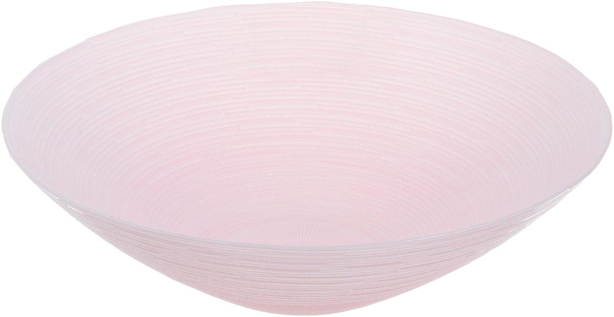 Миска NiNaGlass Риски, цвет: розовый, диаметр 25,5 см83-012-Ф25 Р-РОЗМиска NiNaGlass Риски выполнена из высококачественного стекла и имеет рельефную поверхность. Она прекрасно впишется в интерьер вашей кухни и станет достойным дополнением к кухонному инвентарю. Не рекомендуется использовать в микроволновой печи и мыть в посудомоечной машине. Диаметр миски: 25,5 см. Высота стенки: 7,5 см.