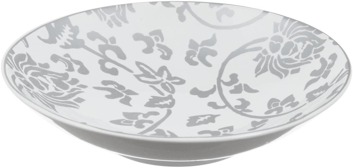 Тарелка глубокая Sango Ceramics Джапан Деним Сильвер, диаметр 23,5 смUTJDS67840Глубокая тарелка Sango Ceramics Джапан Деним Сильвер изготовлена из высококачественной керамики. Она украшена цветочным рисунком. Такая тарелка сочетает в себе изысканный дизайн с максимальной функциональностью. Тарелка прекрасно впишется в интерьер вашей кухни и станет достойным подарком к любому празднику. Диаметр тарелки (по верхнему краю): 23,5 см. Высота тарелки: 4,5 см.