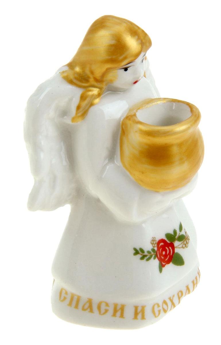 Фигурка-подсвечник Ангел-хранитель895268Подсвечник - сувенир в полном смысле этого слова. И главная его задача — хранить воспоминание о месте, где вы побывали, или о том человеке, который подарил данный предмет. Преподнесите эту вещь своему другу, и она станет достойным украшением его дома.