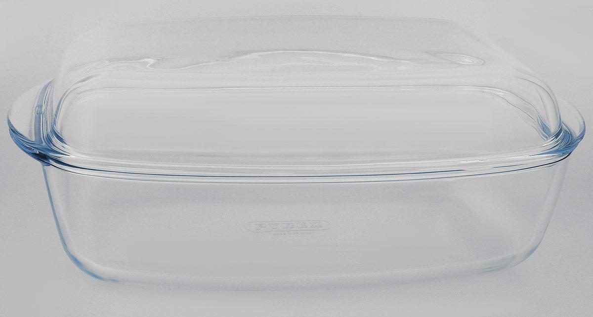 Утятница Pyrex, с крышкой, прямоугольная, 7 л466AAУтятница Pyrex выполнена из жаропрочного стекла. Изделие не вступает в реакцию с готовящейся пищей, а потому не выделяет никаких вредных веществ, не подвергается воздействию кислот и солей. Стеклянная посуда очень удобна для приготовления и подачи самых разнообразных блюд. Стекло выдерживает температуру от - 40°C до +300°C. Благодаря прозрачности стекла, за едой можно наблюдать при ее приготовлении, еду можно видеть при подаче, хранении. Используя эту форму, вы можете, как приготовить пищу, так и изящно подать ее к столу, не меняя посуды. Крышка выполнена из стекла и может быть использована также отдельно для приготовления и подачи различных блюд. Утятница может быть использована в духовке, микроволновой печи и морозильной камере. Можно мыть в посудомоечной машине. Размер утятницы (без учета ручек): 32 х 20,5 х 8,5 см. Объем утятницы: 4,6 л. Размер крышки (без учета ручек): 31 х 19 х 4,5 см. Объем крышки: 2,4 л.