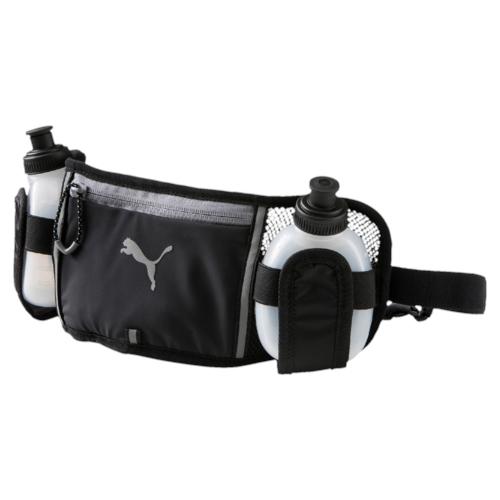 Сумка поясная+2 бутылки (0,2 л) в комплекте Puma Pr Bottle Waist Bag, цвет: черный. 0744360107443601