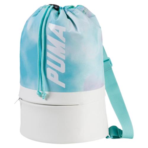 Рюкзак городской жен Puma Prime Bucket Bag P, цвет: белый, бирюзовый. 07455602, 14 л07455602
