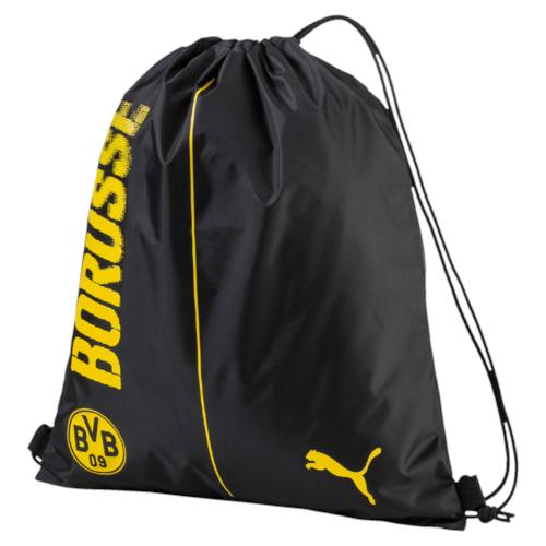 Рюкзак спортивный Puma Bvb Fanwear Gym Sack, цвет: черный. 07462301