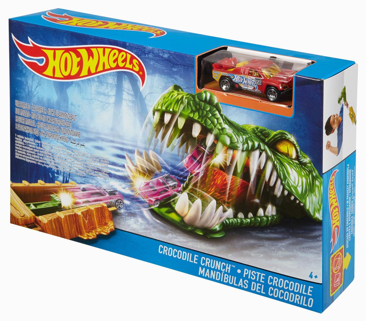 Hot Wheels Игрушечный трек Схватка с крокодилом