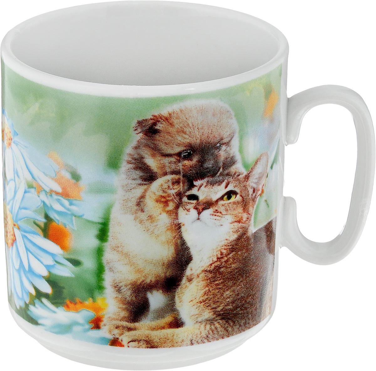 Кружка Джойс. Йоркширский терьер, кот и ромашки, 300 мл1333006_йоркширский терьер, кот и ромашкиКружка Джойс. Йоркширский терьер, кот и ромашки изготовлена из высококачественного фарфора. Внешние стенки изделия оформлены красочным рисунком. Такая кружка прекрасно подойдет для горячих и холодных напитков. Она дополнит коллекцию вашей кухонной посуды и будет служить долгие годы. Диаметр кружки (по верхнему краю): 8 см. Высота кружки: 8,5 см.