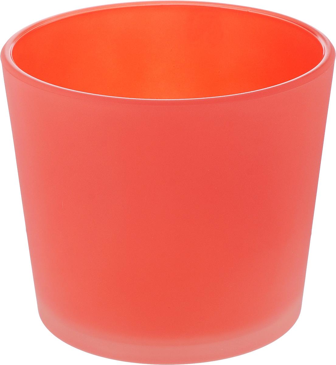 Кашпо NiNaGlass, цвет: коралловый, высота 12 см91-011-ф145 КОРАЛЛКашпо NiNaGlass имеет уникальную форму, сочетающуюся как с классическим, так и с современным дизайном интерьера. Оно изготовлено из высококачественного стекла и предназначено для выращивания растений, цветов и трав в домашних условиях. Кашпо NiNaGlass порадует вас функциональностью, а благодаря лаконичному дизайну впишется в любой интерьер помещения. Диаметр кашпо (по верхнему краю): 14 см. Высота кашпо: 12 см.