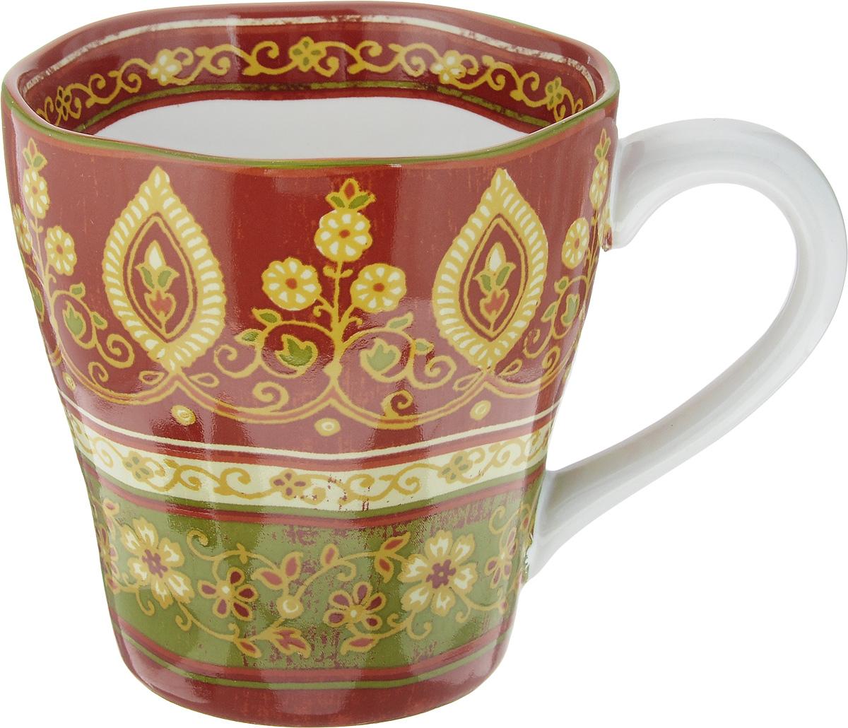 Кружка Sango Ceramics Кашмир, 450 млUTT41601Кружка Sango Ceramics Кашмир изготовлена из высококачественной керамики. Изделие оформлено оригинальным рисунком. Такая кружка создаст атмосферу тепла и уюта, настроит на позитивный лад и подарит хорошее настроение с самого утра. Это оригинальное изделие идеально подойдет в подарок близкому человеку. Можно мыть в посудомоечной машине и использовать в СВЧ. Диаметр (по верхнему краю): 10,5 см. Высота кружки: 10,5 см. Объем: 450 мл.