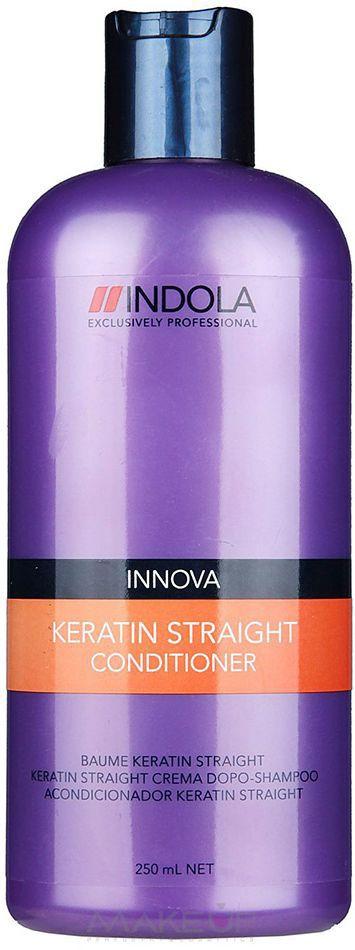 Indola Кондиционер Кератиновое выпрямление Keratin Straight Conditioner 250 мл1613482Indola Кондиционер Кератиновое выпрямление. Содержащая кератин-полимер комплекс формула покрывает волосы защитным слоем, который выпрямляет и защищает их от завитков на 48 часов. Облегчает расчесывание, разглаживает непокорные, пушистые волосы, обеспечивая гладкость, блеск и здоровый вид. Рекомендуется использовать в комплексе с шампунем Indola Keratin Straight.