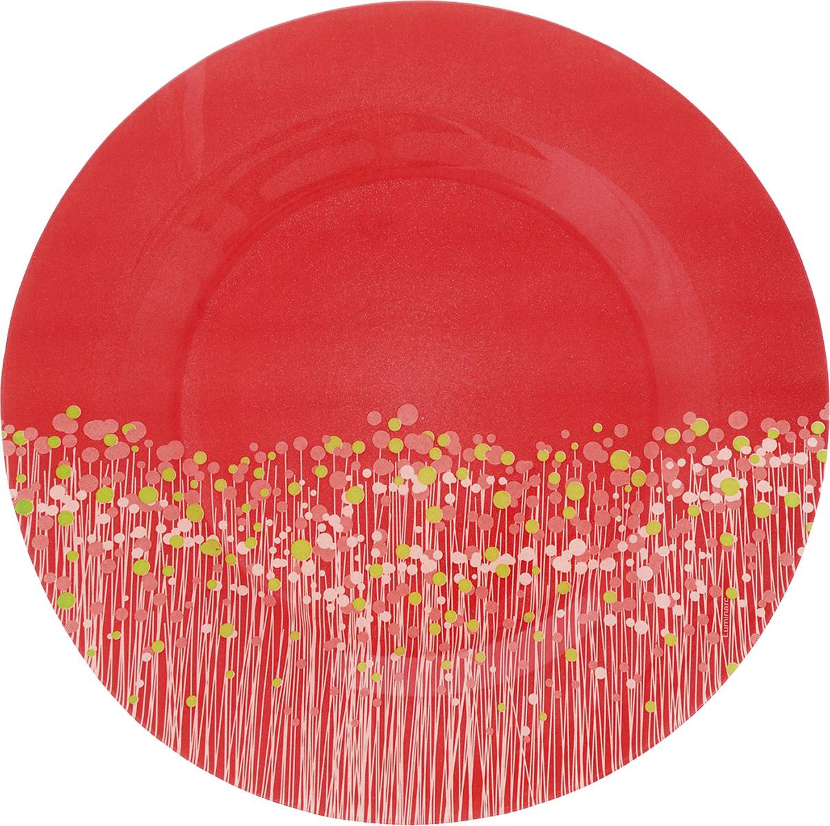 Тарелка обеденная Luminarc FlowerFields Anis, цвет: красный, зеленый, диаметр 25 смH2482_красный, зеленыйОбеденная тарелка Luminarc FlowerFields Anis, изготовленная из ударопрочного стекла, имеет изысканный внешний вид. Она идеально подойдет для сервировки вторых блюд из птицы, рыбы, мяса или овощей. Обеденная тарелка Luminarc FlowerFields Anis станет отличным подарком к любому празднику. Диаметр тарелки (по верхнему краю): 25 см. Высота тарелки: 2,5 см.