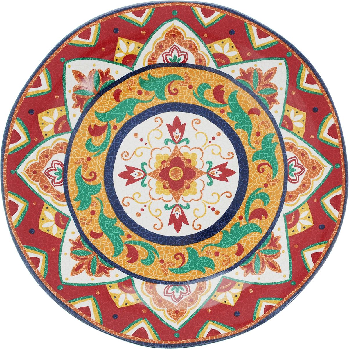 Тарелка обеденная Sango Ceramics Мессина, диаметр 27 смUTMS41110Обеденная тарелка Sango Ceramics Мессина, изготовленная из высококачественной керамики, имеет изысканный внешний вид. Она идеально подходит для красивой сервировки стола. Изделие прекрасно впишется в интерьер вашей кухни и станет достойным дополнением к кухонному инвентарю. Тарелка Sango Ceramics Мессина подчеркнет прекрасный вкус хозяйки и станет отличным подарком. Можно мыть в посудомоечной машине и использовать в микроволновой печи. Диаметр тарелки (по верхнему краю): 27 см. Высота тарелки: 3 см.