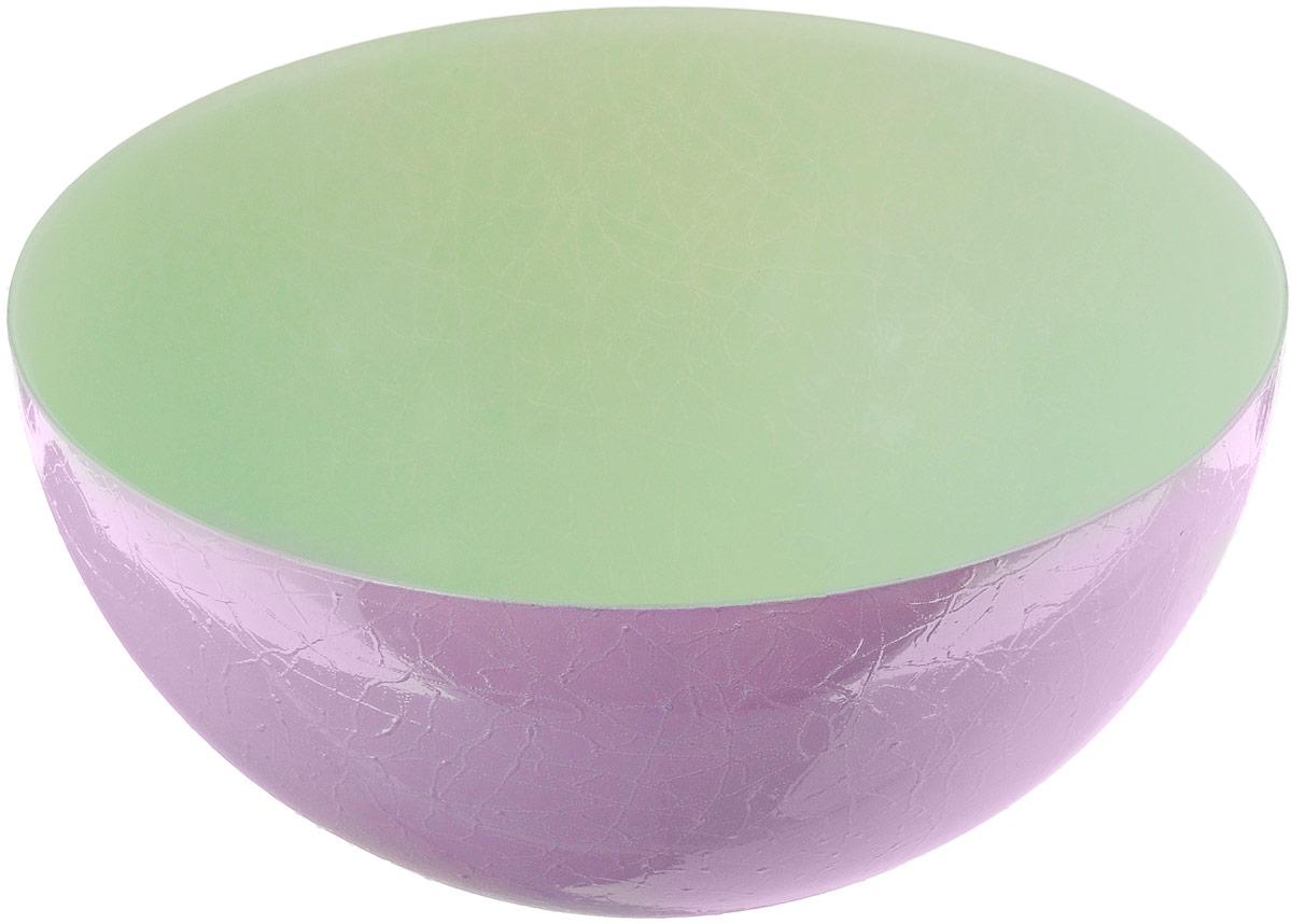 Салатник NiNaGlass Шеф, цвет: зеленый, сиреневый, диаметр 28 см83-089-Ф280 З-СИРДвухцветный салатник NiNaGlass Альтера выполнен из высококачественного стекла. Внешние стенки декорированы красивым узором. Салатник идеален для сервировки салатов, овощей, фруктов, ягод, вторых блюд, гарниров и многого другого. Он отлично подойдет как для повседневных, так и для торжественных случаев. Такой салатник прекрасно впишется в интерьер вашей кухни и станет достойным дополнением к кухонному инвентарю. Диаметр салатника (по верхнему краю): 28 см. Высота стенки: 13 см.